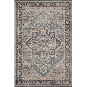 Hathaway Navy Multicolor Rectangular: 2 Ft. 6 In. x 7 Ft. 6 In. Rug