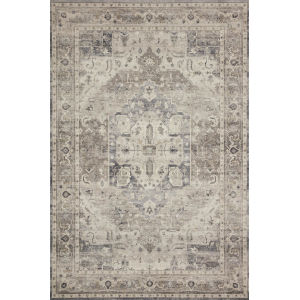 Hathaway Steel Ivory Rectangular: 7 Ft. 6 In. x 9 Ft. 6 In. Rug