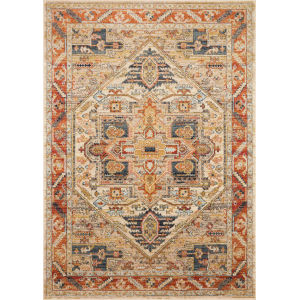 Jocelyn Sand Multicolor Rectangular: 6 Ft. 7 In. x 9 Ft. 7 In. Rug