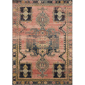 Jocelyn Rose Rose Rectangular: 6 Ft. 7 In. x 9 Ft. 7 In. Rug