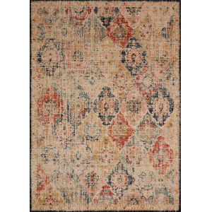 Jocelyn Khaki Multicolor Rectangular: 7 Ft. 10 In. x 10 Ft. Rug