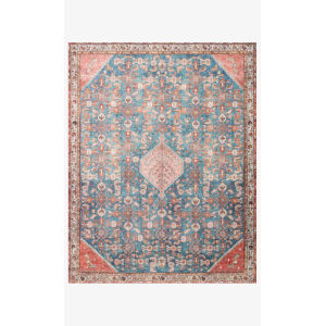 Layla Marine and Clay Rectangular: 7 Ft. 6 In. x 9 Ft. 6 In. Area Rug