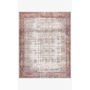 Layla Ivory and Brick Rectangular: 5 Ft. x 7 Ft. 6 In. Area Rug