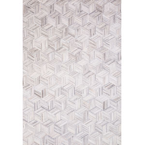 Maddox Lt Gray Ivory Rectangular: 7 Ft. 6 In. x 9 Ft. 6 In. Rug