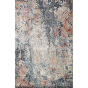 Maeve Silver and Apricot 6 Ft. 7 In. x 9 Ft. 10 In. Area Rug