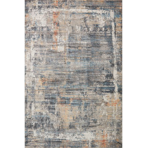 Maeve Slate and Apricot 6 Ft. 7 In. x 9 Ft. 10 In. Area Rug