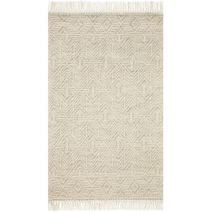 Noelle Ivory and Black 8 Ft. x 10 Ft. Area Rug