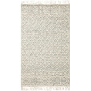 Noelle Ivory and Blue 9 Ft. x 12 Ft. Area Rug