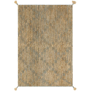 Playa Aqua Natural Rectangular: 9 Ft. 3 In. x 13 Ft. Rug