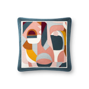 Justina Blankeney Multicolor 18 x 18 Inch Polyester and Cotton Pillow