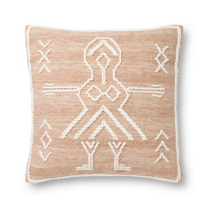 Justina Blankeney Rust Ivory 22 x 22 Inch Pillow