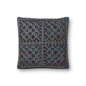 Justina Blankeney Navy Multicolor 18 x 18 Inch Pillow