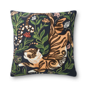 Justina Blankeney Black Multicolor 22 x 22 Inch Pillow