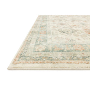 Rosette Beige Multicolor Rectangular: 2 Ft. 6 In. x 9 Ft. 9 In. Rug