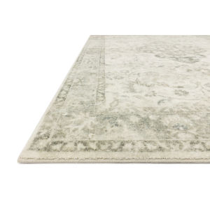 Rosette Ivory Silver Rectangular: 7 Ft. 6 In. x 9 Ft. 6 In. Rug