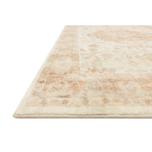 Rosette Ivory Terracotta Rectangular: 7 Ft. 6 In. x 9 Ft. 6 In. Rug