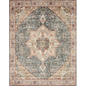 Saban Blue Multicolor Rectangular: 7 Ft. 1 In. x 10 Ft. Rug