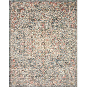 Saban Blue Spice Rectangular: 7 Ft. 1 In. x 10 Ft. Rug