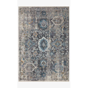Samra Gray and Multicolor Rectangular: 5 Ft. 3 In. x 7 Ft. 9 In. Area Rug
