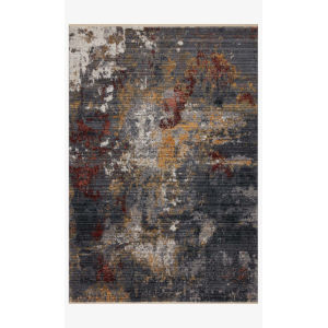 Samra Dark Gray and Spice Rectangular: 7 Ft. 10 In. x 10 Ft. Area Rug