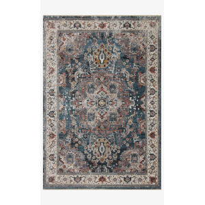 Samra Slate and Multicolor Rectangular: 11 Ft. 6 In. x 15 Ft. 7 In. Area Rug