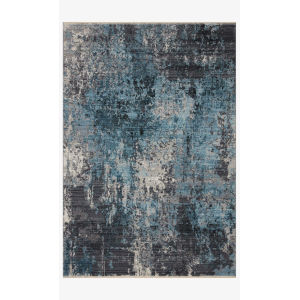 Samra Charcoal and Sky Rectangular: 11 Ft. 6 In. x 15 Ft. 7 In. Area Rug