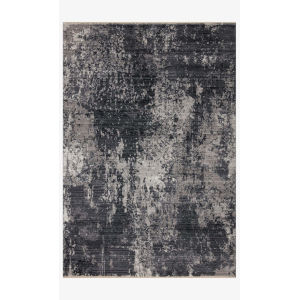 Samra Charcoal and Silver Rectangular: 2 Ft. 7 In. x 10 Ft. Area Rug