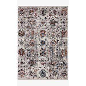 Samra Ivory and Multicolor Rectangular: 5 Ft. 3 In. x 7 Ft. 9 In. Area Rug