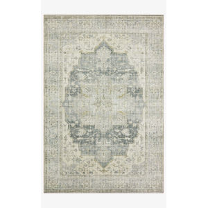 Skye Charcoal and Dove Rectangular: 3 Ft. 6 In. x 5 Ft. 6 In. Area Rug