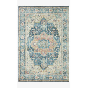 Skye Ocean and Multicolor Rectangular: 3 Ft. 6 In. x 5 Ft. 6 In. Area Rug