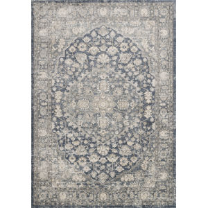 Teagan Denim and Mist 6 Ft. 7 In. x 9 Ft. 2 In. Rectangular Rug