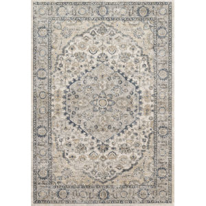 Teagan Natural and Light Gray 6 Ft. 7 In. x 9 Ft. 2 In. Rectangular Rug