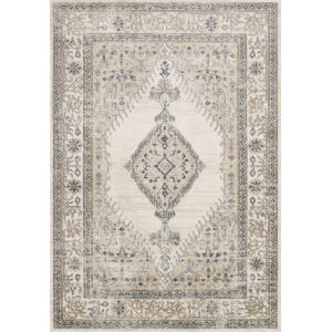 Teagan Oatmeal and Ivory 1 Ft. 6 In. x 1 Ft. 6 In. Square Rug