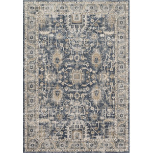 Teagan Denim and Pebble 2 Ft. 8 In. x 4 In. Rectangular Rug