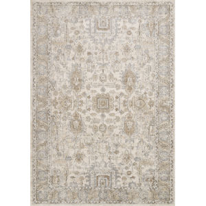 Teagan Ivory and Sand 3 Ft. 4 In. x 5 Ft. 7 In. Rectangular Rug