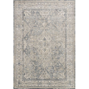 Teagan Sky and Natural 1 Ft. 6 In. x 1 Ft. 6 In. Square Rug
