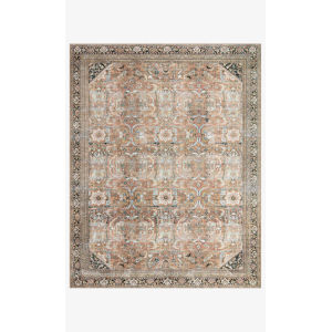 Wynter Auburn and Multicolor Rectangular Area Rug