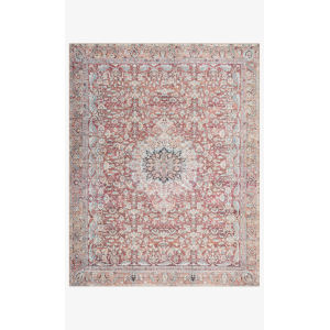 Wynter Tomato and Teal Rectangular: 2 Ft. x 5 Ft. Area Rug