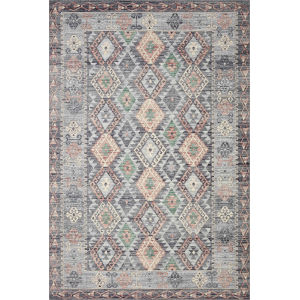 Zion Grey Multicolor Rectangular: 7 Ft. 6 In. x 9 Ft. 6 In. Rug