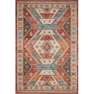 Zion Red Multicolor Rectangular: 7 Ft. 6 In. x 9 Ft. 6 In. Rug