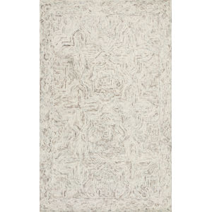 Ziva Neutral 2 Ft. 6 In. x 7 Ft. 6 In. Hand Tufted Rug