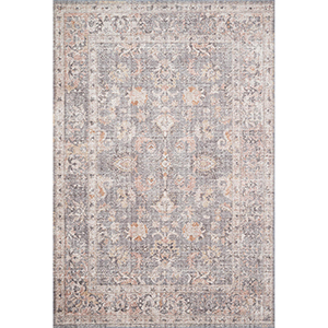 Skye Gray And Apricot Rectangular: 7 Ft. 6 In. X 9 Ft. 6 In. Rug