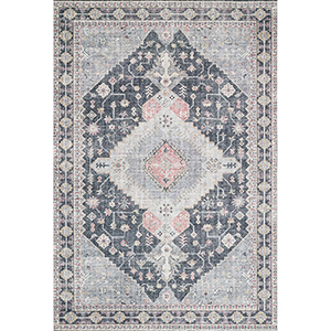 Skye Charcoal Rectangular: 3 Ft. 6 In. X 5 Ft. 6 In. Rug