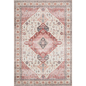 Skye Ivory And Berry Rectangular: 3 Ft. 6 In. X 5 Ft. 6 In. Rug
