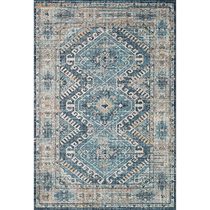 Skye Denim And Natural Runner: 2 Ft. 6 In. X 7 Ft. 6 In. Runner