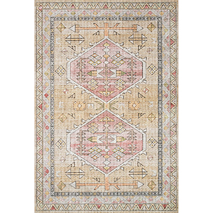 Skye Gold And Blush Rectangular: 3 Ft. 6 In. X 5 Ft. 6 In. Rug