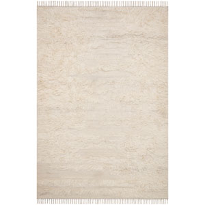 Crafted by Loloi Abbot Natural Ivory Rectangle: 3 Ft. 6 In. x 5 Ft. 6 In. Rug