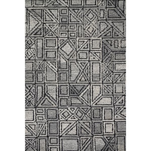 Crafted by Loloi Artesia Charcoal Grey Runner: 2 Ft. 6 In. x 9 Ft. 9 In.