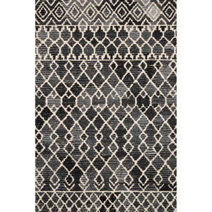Crafted by Loloi Artesia Charcoal Ivory Rectangle: 5 Ft. x 7 Ft. 6 In. Rug