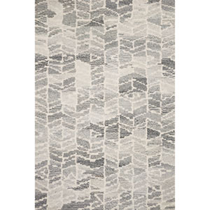 Crafted by Loloi Artesia Silver Ivory Rectangle: 3 Ft. 6 In. x 5 Ft. 6 In. Rug